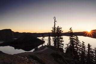 Craterlake sunrise