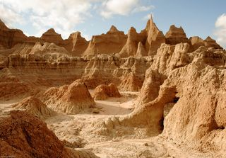Rocky texture castle trail
