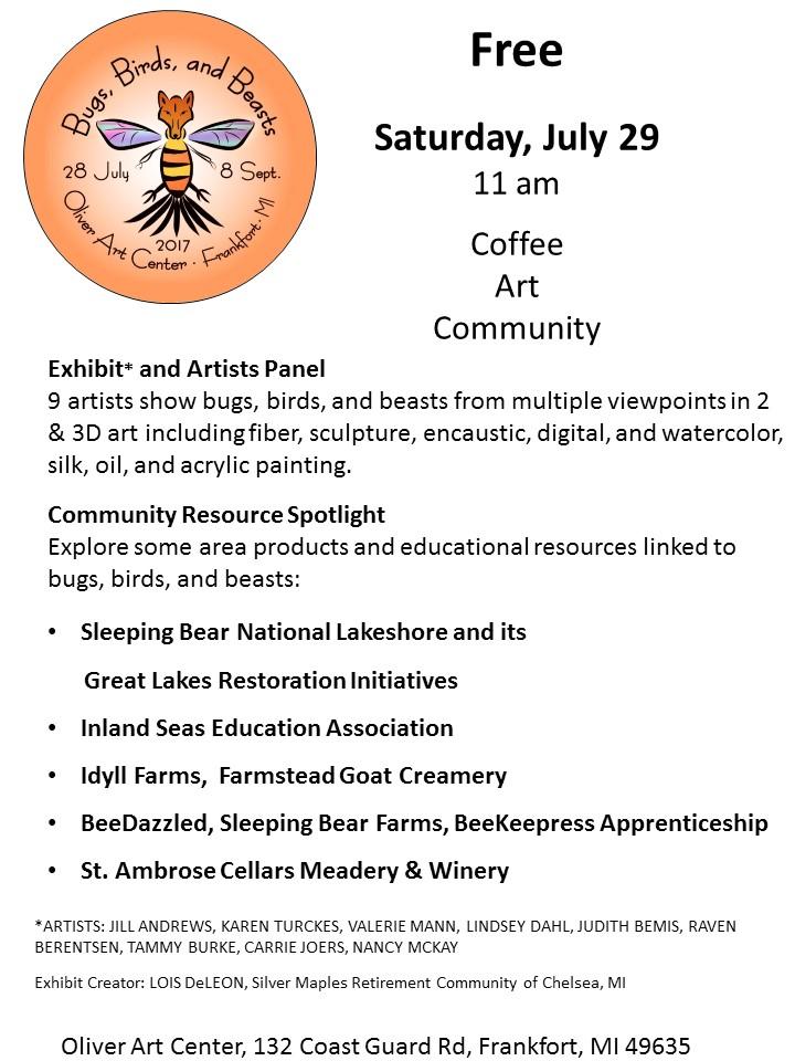 Coffee.Artist Panel.Community Spotlight Flyer Sleeping Bear